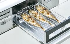 オートメニューで焼き魚をおいしく調理