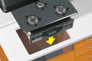 ビルトインコンロはシステムキッチンに埋め込んで設置します